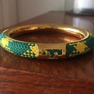 Tory Burch T Logo woven bangle Bracelet